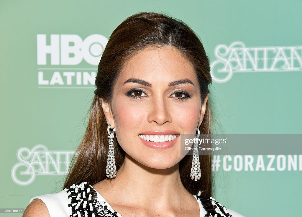 Miss Universe 2013, Gabriela Isler attends the 'Santana De Corazon' screening at The Hudson Theatre on April 16, 2014 in New York City.