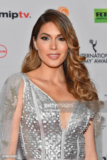 Miss Universe 2013 Gabrilea Isler attends the 45th International Emmy Awards at New York Hilton on November 20 2017 in New York City