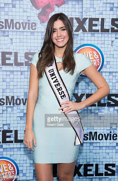 Miss Universe 2014 Paulina Vega attends the 'Pixels' New York premiere at Regal EWalk on July 18 2015 in New York City