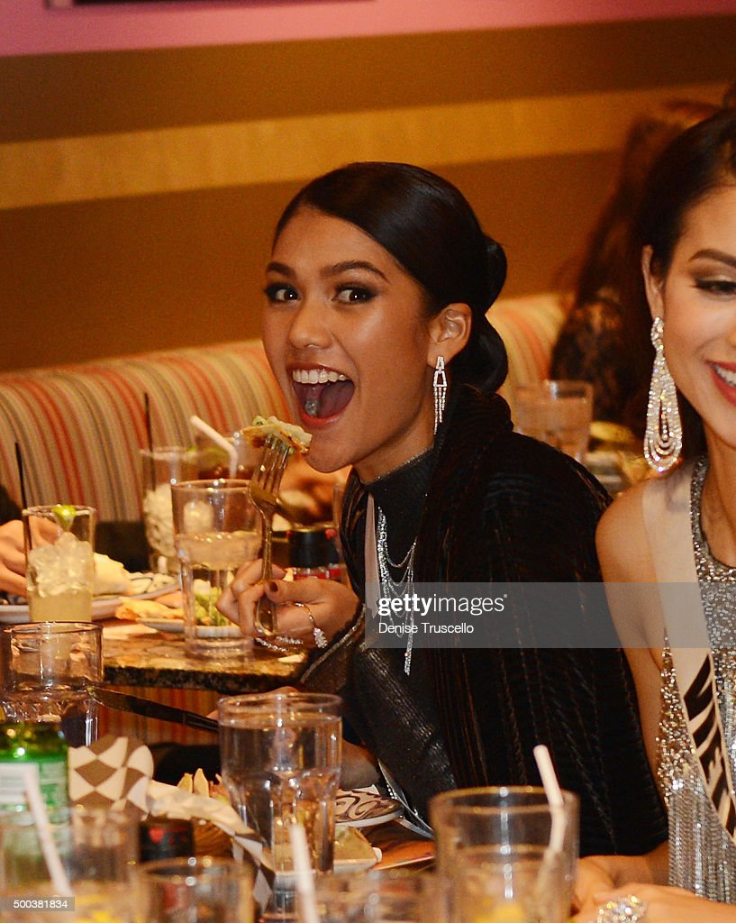 Aniporn Chalermburanawong- THAILAND UNIVERSE 2015 Miss-universe-2015-contestants-attend-a-welcome-dinner-at-tequila-at-picture-id500381834