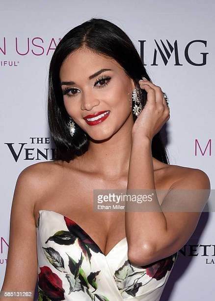 Miss Universe 2015 Pia Alonzo Wurtzbach attends the 2016 Miss Teen USA Competition at The Venetian Las Vegas on July 30 2016 in Las Vegas Nevada