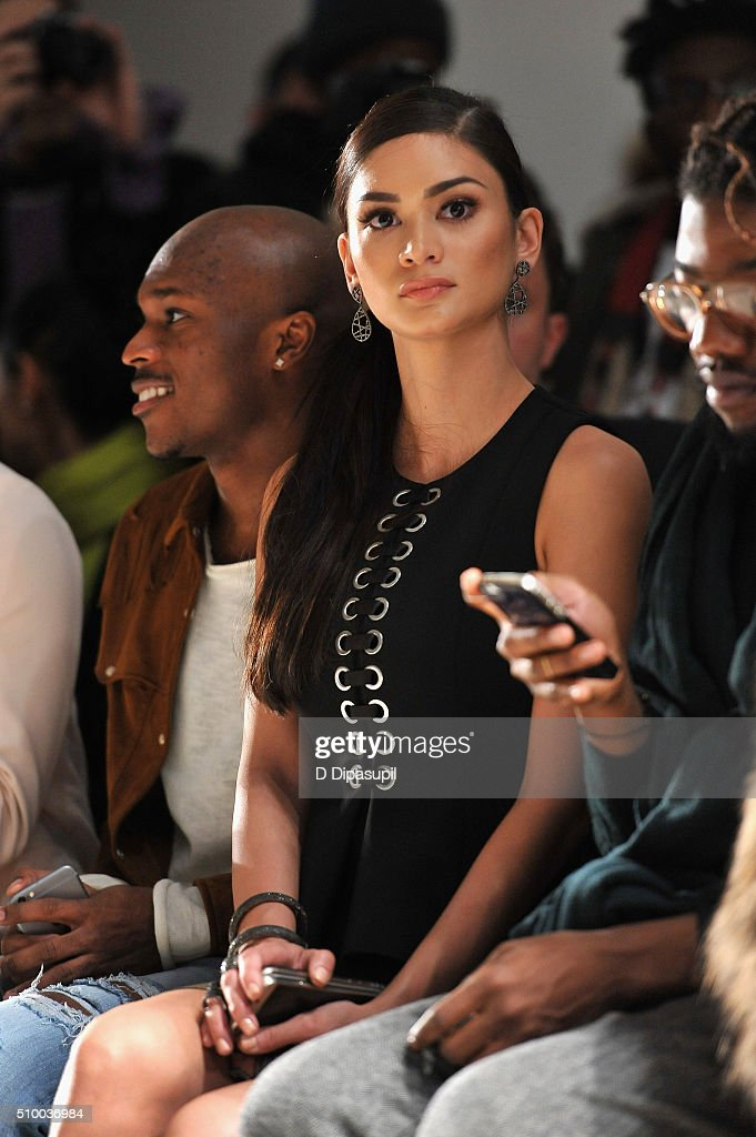 Miss Universe 2015 Pia Alonzo Wurtzbach attends the Leanne Marshall Fall 2016 fashion show during New York Fashion Week: The Shows at The Gallery, Skylight at Clarkson Sq on February 13, 2016 in New York City.