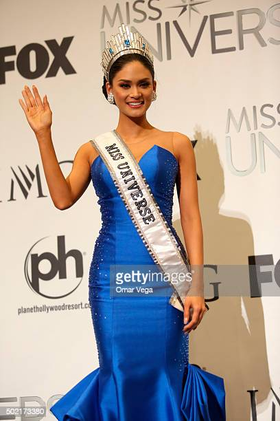 Miss Universe 2015 Pia Alonzo Wurtzbach from Philippines during the Press Conference of The 64th Annual Miss Universe Pageant at The Axis Planet...