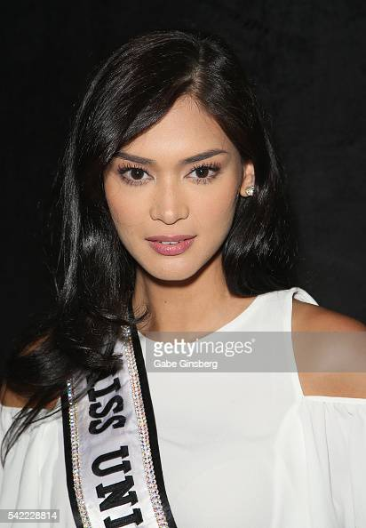 Miss Universe 2015 Pia Alonzo Wurtzbach poses at the WMEIMG booth during the Licensing Expo 2016 at the Mandalay Bay Convention Center on June 22...