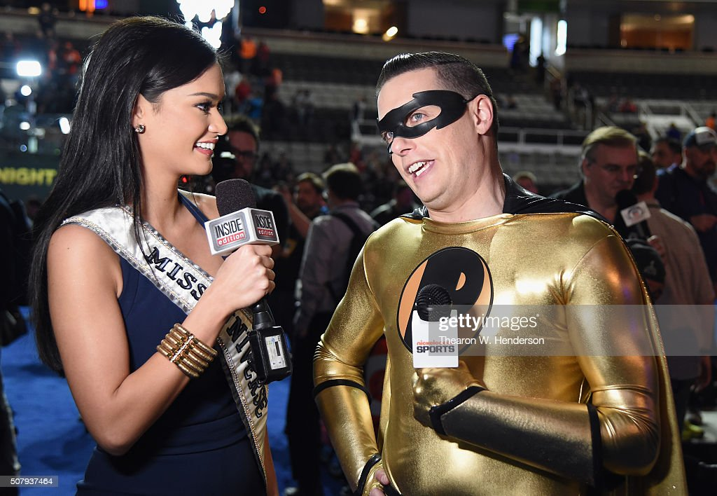 Miss Universe 2015 Pia Wurtzbach and Jeff Sutphen attend Super Bowl Opening Night Fueled by Gatorade at SAP Center on February 1 2016 in San Jose...