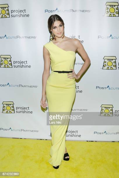 Miss Universe 2016 Iris Mittenaere attends Project Sunshine's 14th Annual Benefit Celebration 'Brighter Together' at Cipriani 42nd Street on April 27...