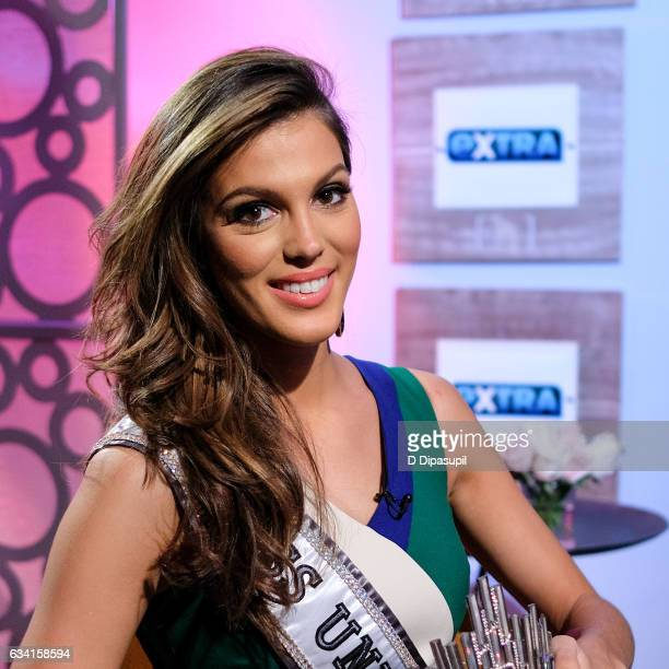 Miss Universe 2016 Iris Mittenaere visits 'Extra' on February 7 2017 in New York City