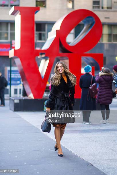 Miss Universe 2017 DemiLeigh NelPeters is seen in Midtown on November 28 2017 in New York City