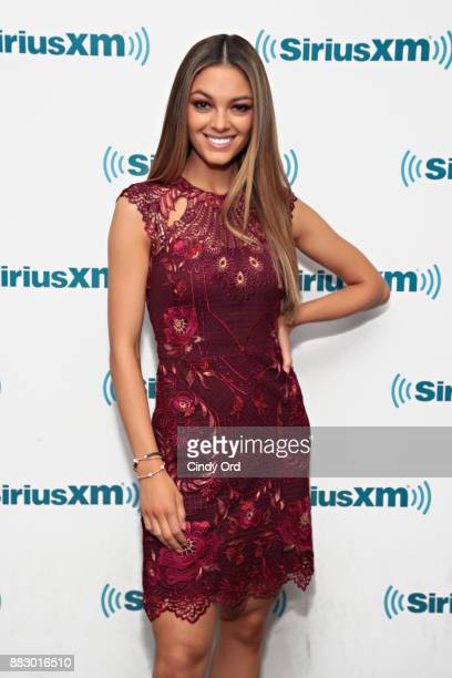 Miss Universe 2017 DemiLeigh NelPeters visits the SiriusXM Studios on November 30 2017 in New York City