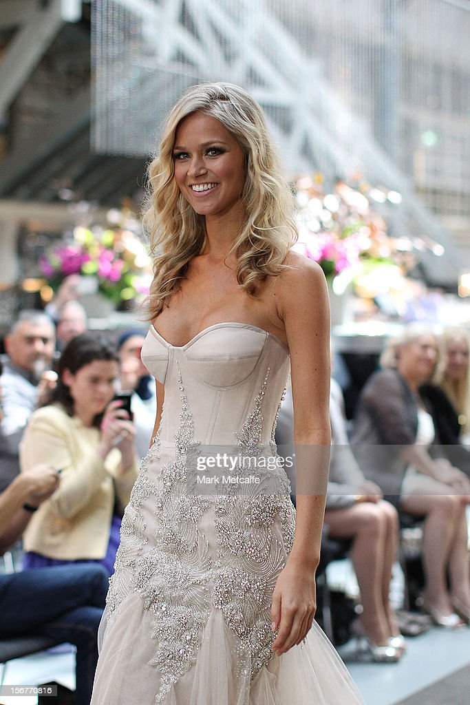 Miss Universe Australia, Renee Ayris, walks the catwalk at the unveiling of the Australia National Costume on November 21, 2012 in Sydney, Australia.