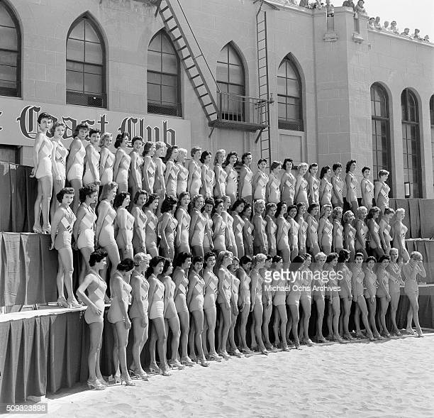 Miss Universe Contestants poses in Long Beach California 'n