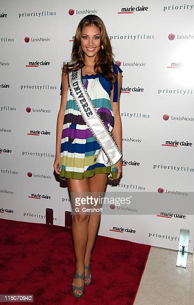 Miss Universe Dayana Mendoza attends a screening of 'Holly' at the Hearst Tower on August 5 2008 in New York City