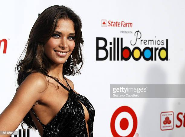 Miss Universe Dayana Mendoza attends the 2009 Billboard Latin Music Awards at Bank United Center on April 23 2009 in Miami Beach Florida