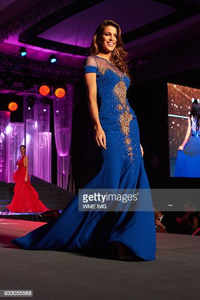 Miss Universe France Iris Mittenaere visita National Gift Auction Conrad Manila in the Philippines on January 23 2017 Miss France was crowned as the...