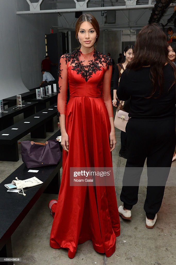 Miss Universe Gabriela Isler attends the Vivienne Hu fashion show during MercedesBenz Fashion Week Spring 2015 at Pier 59 on September 9 2014 in New...