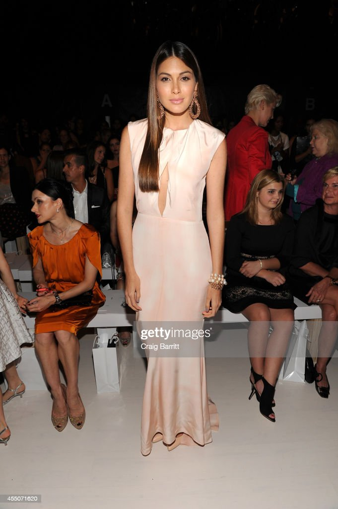 Miss Universe Gabriela Isler attends the Zang Toi fashion show during MercedesBenz Fashion Week Spring 2015 at The Salon at Lincoln Center on...