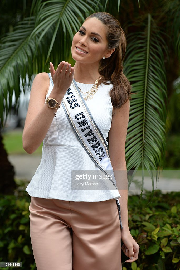 Miss Universe Gabriela Isler visits Food For The Poor on January 12 2015 in Miami Florida