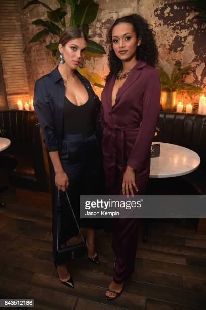 Miss Universe Iris Mittenaere and Miss USA Kara McCullough attend the NYFW Kickoff Party A Celebration Of Personal Style hosted by E ELLE IMG and...