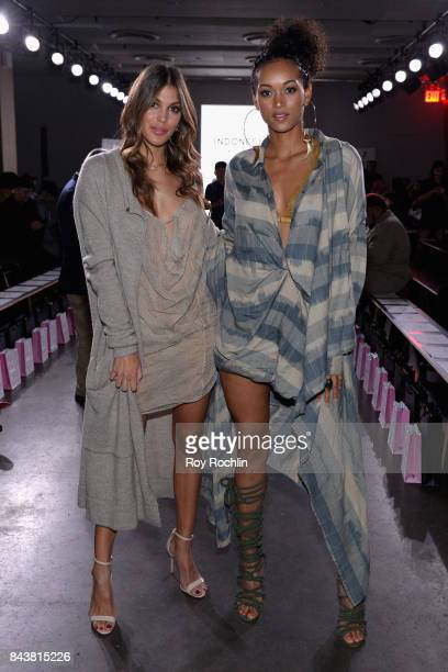 Miss Universe Iris Mittenaere and Miss USA Kára McCullough attend the Indonesian Diversity fashion show during New York Fashion Week at The Gallery...