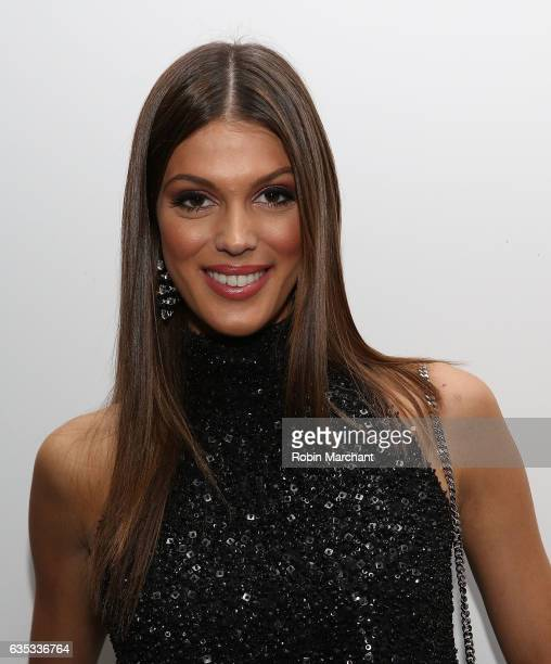 Miss Universe Iris Mittenaere attends Carmen Marc Valvo during New York Fashion Week on February 14 2017 in New York City