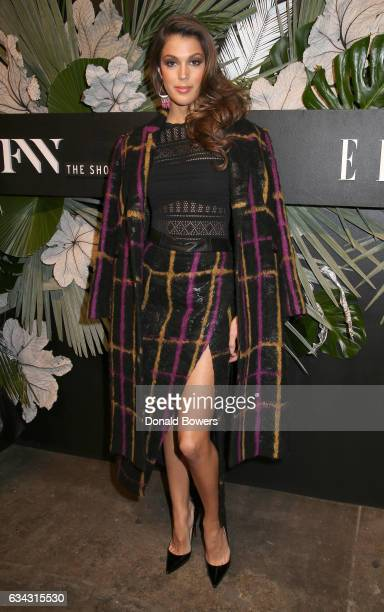 Miss Universe Iris Mittenaere attends E ELLE IMG celebration to kickoff NYFW The Shows on February 8 2017 in New York City