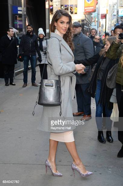 Miss Universe Iris Mittenaere is seen in Midtown on February 6 2017 in New York City