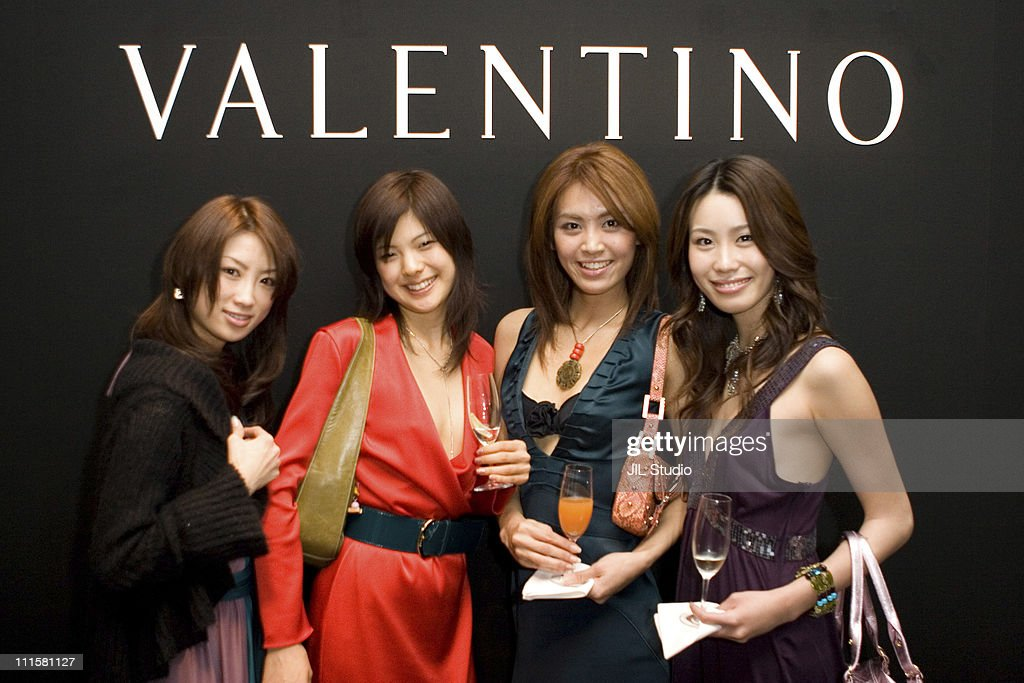Miss Universe Japan Contestants during Opening of Valentino Ginza Boutique in Tokyo - December 1, 2005 at Italian Institute of Culture in Tokyo, Japan.