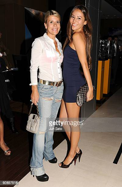 Miss Universe Japan Director Ines Ligron and model Jessica Michibata arrive Maria H 2010 Fashion Show at Ishida Aoyama Omotesando Store on November 6...