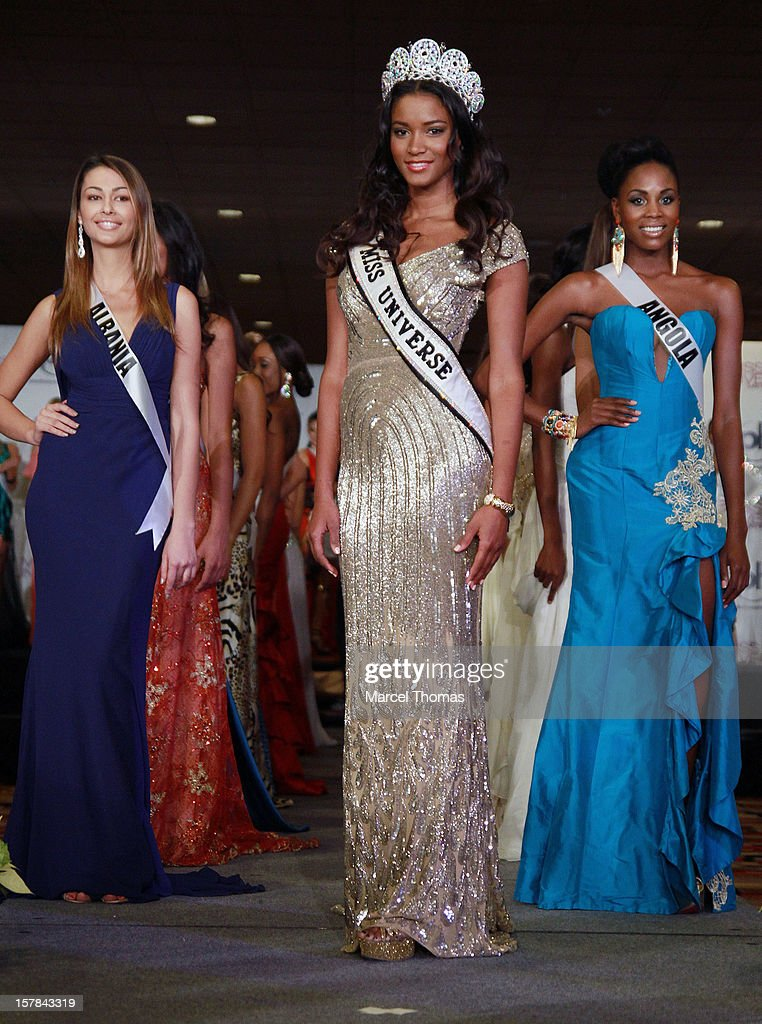 Miss Universe Leila Lopes walks the runway as part of the 2012 Miss Universe Pageant's Official Welcome Event at Planet Hollywood Resort and Casino...