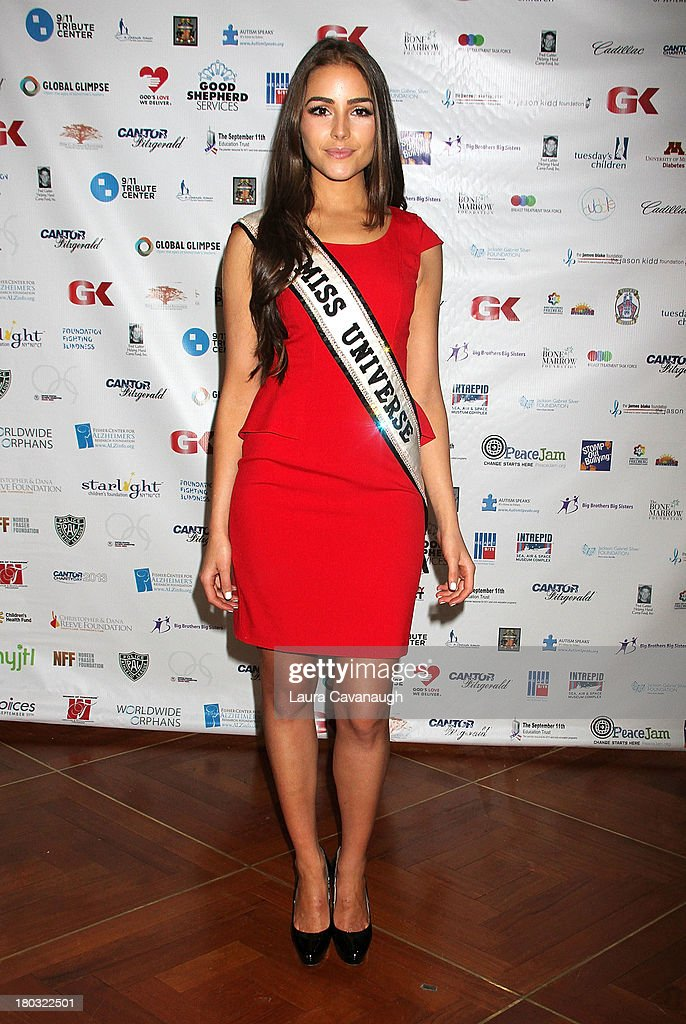 Miss Universe <a gi-track='captionPersonalityLinkClicked' href=/galleries/search?phrase=Olivia+Culpo&family=editorial&specificpeople=9194131 ng-click='$event.stopPropagation()'>Olivia Culpo</a> attends Cantor Fitzgerald And BGC Partners Annual Charity Day at Cantor Fitzgerald on September 11, 2013 in New York City.