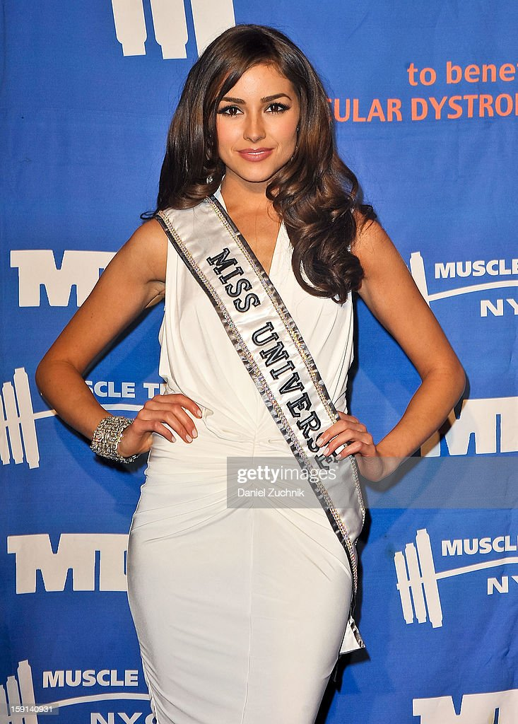 Miss Universe Olivia Culpo attends the 16th Annual MDA Muscle Team Gala and Benefit Auction at Pier 60 on January 8, 2013 in New York City.