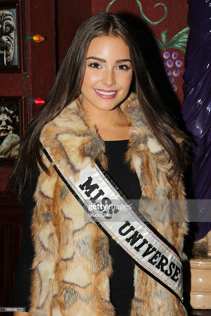 Miss Universe Olivia Culpo visits Buca di Beppo Times Square on April 13, 2013 in New York City.