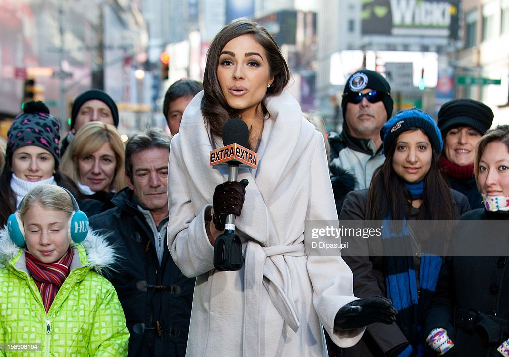 Miss Universe Olivia Culpo visits 'Extra' in Times Square on January 3, 2013 in New York City.