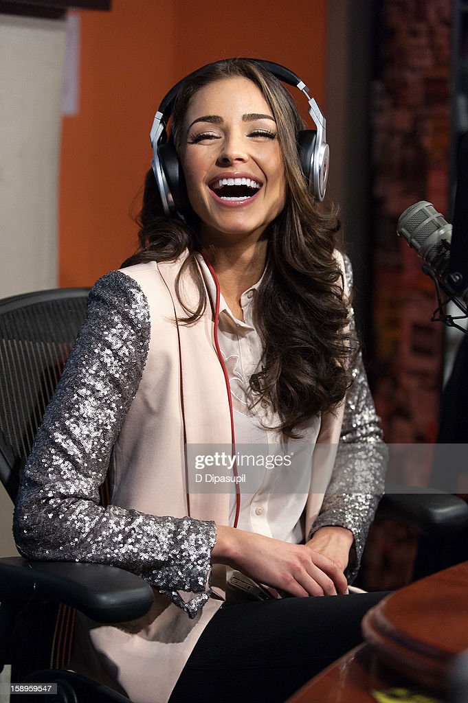 Miss Universe Olivia Culpo visits 'Sway in the Morning' on Eminem's Shade 45 channel in the SiriusXM studios on January 4, 2013 in New York City.
