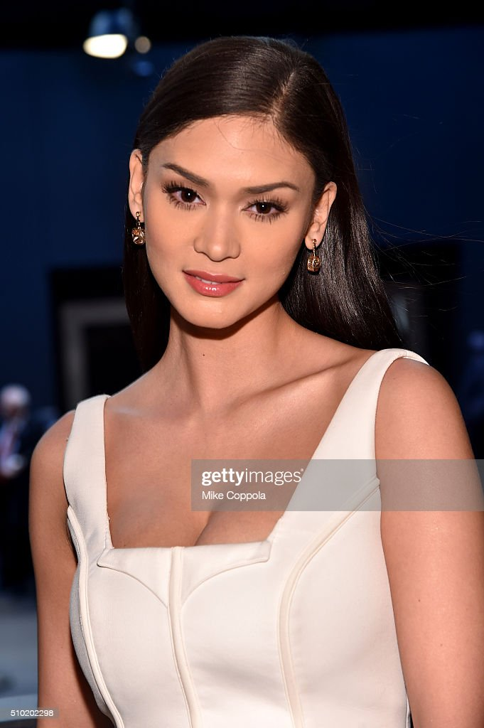 Miss Universe <a gi-track='captionPersonalityLinkClicked' href=/galleries/search?phrase=Pia+Alonzo+Wurtzbach&family=editorial&specificpeople=15294143 ng-click='$event.stopPropagation()'>Pia Alonzo Wurtzbach</a> seen during day 4 of New York Fashion Week: The Shows at XX on February 14, 2016 in New York City.