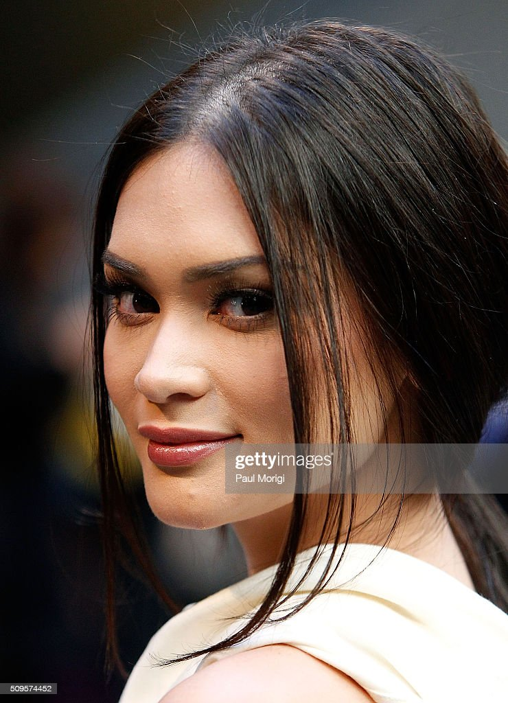 Miss Universe Pia Wurtzbach is seen at Fall 2016 New York Fashion Week on February 11, 2016 in New York City.