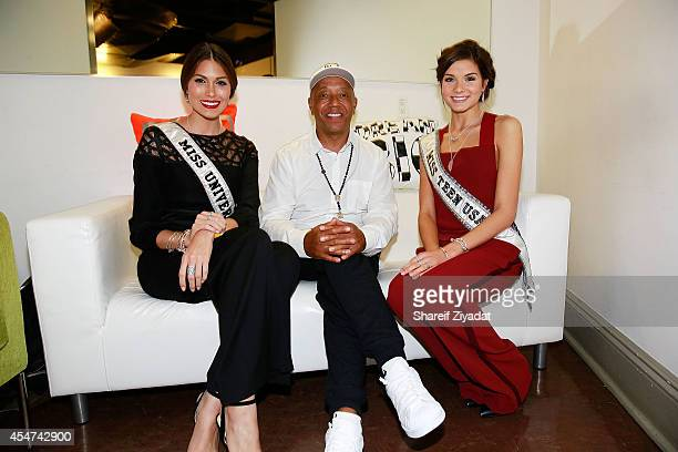 Miss Universe Russell Simmons and Miss Teen USA attend the Argyleculture By Russell Simmons show at MercedesBenz Fashion Week Spring 2015 at Helen...