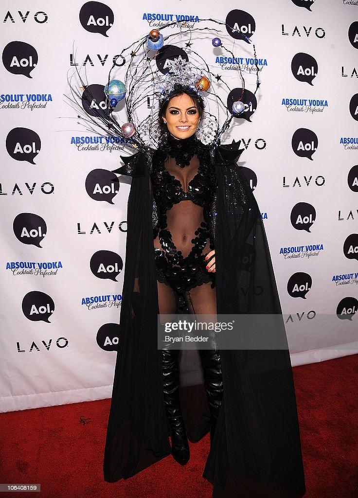 Miss Universe Ximena Navarrete attends.  sc 1 st  WireImage & Miss Universe Ximena Navarrete attends Heidi Klums 2010 Halloween ...