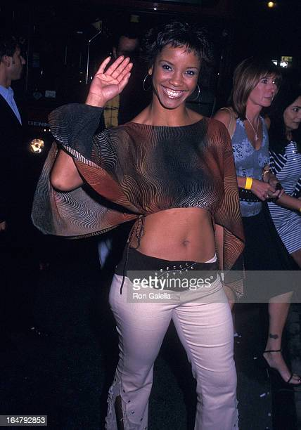 Miss USA 2002 Shauntay Hinton attends the 'Austin Powers in Goldmember' Premiere Party on July 24 2002 at Barney's New York in New York City