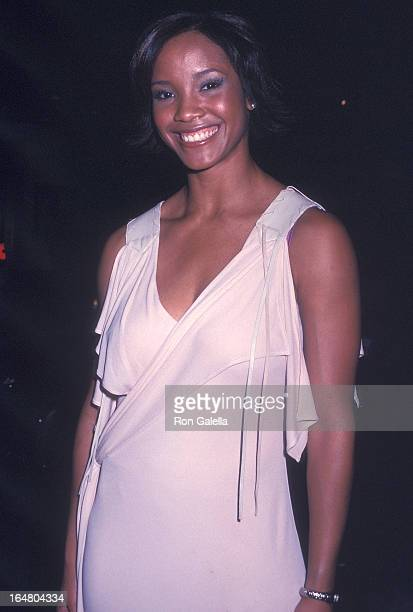 Miss USA 2002 Shauntay Hinton attends the 'Hairspray' Broadway Musical Opening Night on August 15 2002 at the Neil Simon Theatre in New York City