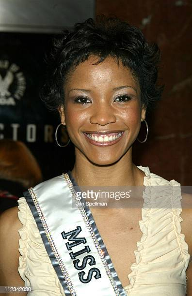 Miss USA 2002 Shauntay Hinton during 'Harrison's Flowers' New York City Premiere at The DGA Theater in New York City New York United States