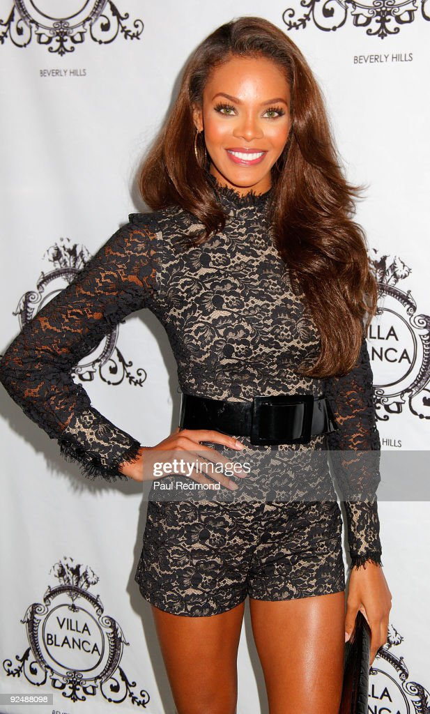 Miss USA 2008 Crystle Stewart attends Genlux Magazine And Ford Models Cocktail Party on October 28 2009 in Beverly Hills California