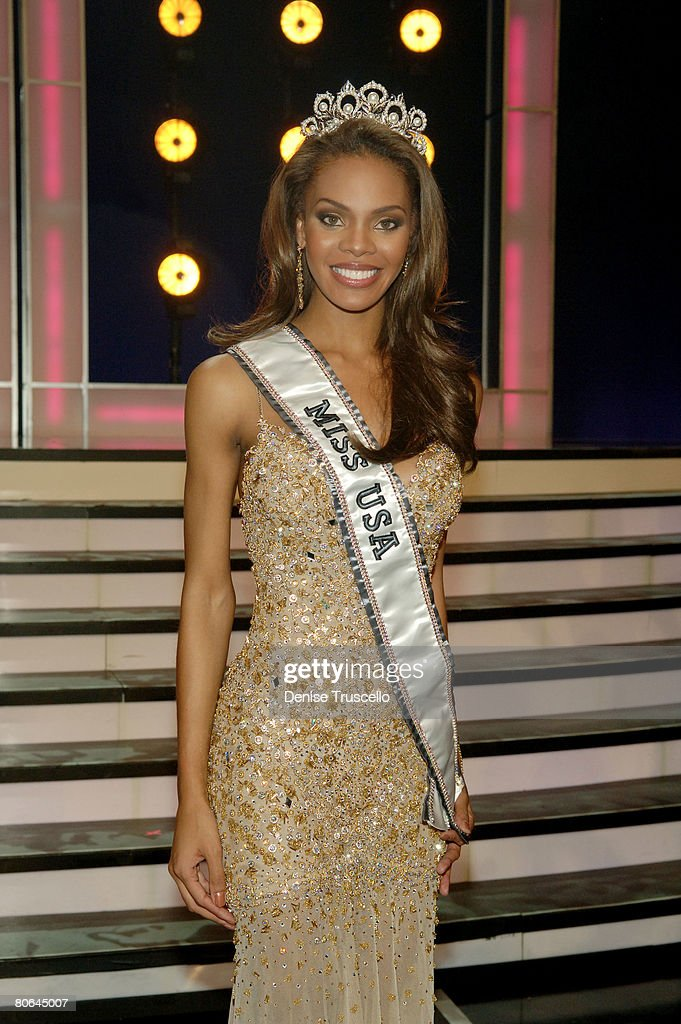 Miss USA 2008/Miss Texas Crystle Stewart attends the 2008 Miss USA Competition at Planet Hollywood Resort Casino on April 11 2008 in Las Vegas Nevada