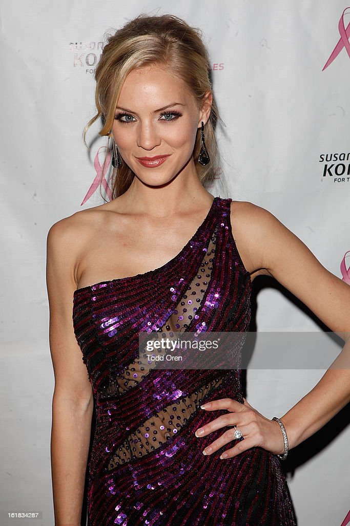 Miss USA 2009 Kristen Dalton poses at the Date for the Cure To Benefit Susan G. Komen For The Cure on February 16, 2013 in Universal City, California.