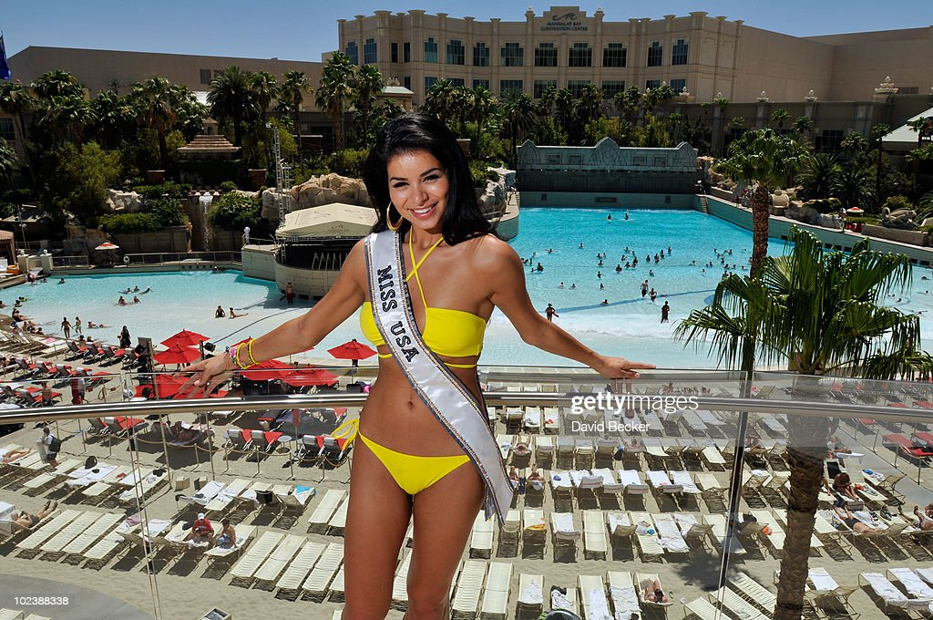 Miss USA 2010, Rima Fakih, appears at the Mandalay Bay Beach June 24, 2010 in Las Vegas, Nevada. Fakih will represent the United States in the 2010 Miss Universe Pageant which will be held at the Mandalay Bay Events Center on August 23, 2010.