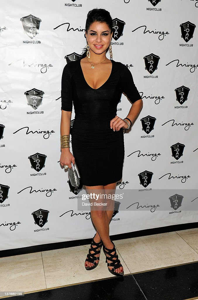 Miss USA 2010 Rima Fakih arrives at the grand opening celebration at 1 Oak Las Vegas at The Mirage Hotel & Casino on January 28, 2012 in Las Vegas, Nevada.