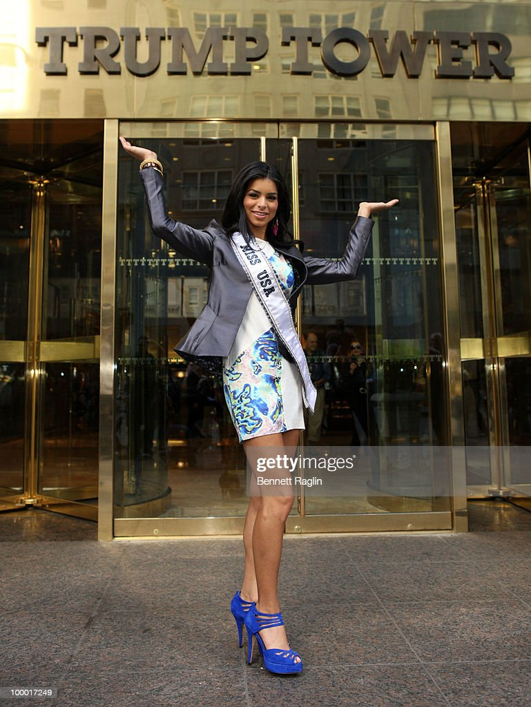 Miss USA 2010 Rima Fakih meets Donald Trump at Trump Tower on May 20, 2010 in New York, City.