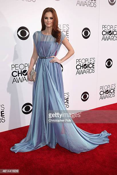 Miss USA 2011 Alyssa Campanella attends The 40th Annual People's Choice Awards at Nokia Theatre LA Live on January 8 2014 in Los Angeles California