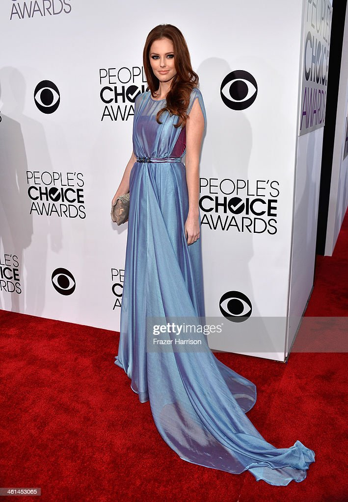 Miss USA 2011 Alyssa Campanella attends The 40th Annual People's Choice Awards at Nokia Theatre L.A. Live on January 8, 2014 in Los Angeles, California.