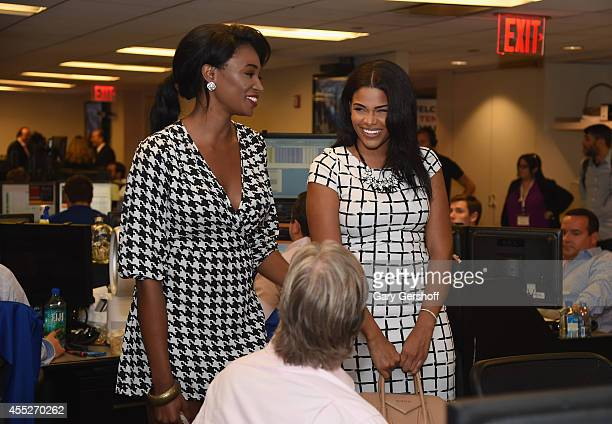 Miss USA 2012 Nana Meriwether and Beauty queen Kamie Crawford attends Annual Charity Day Hosted by Cantor Fitzgerald and BGC at BGC Partners INC on...